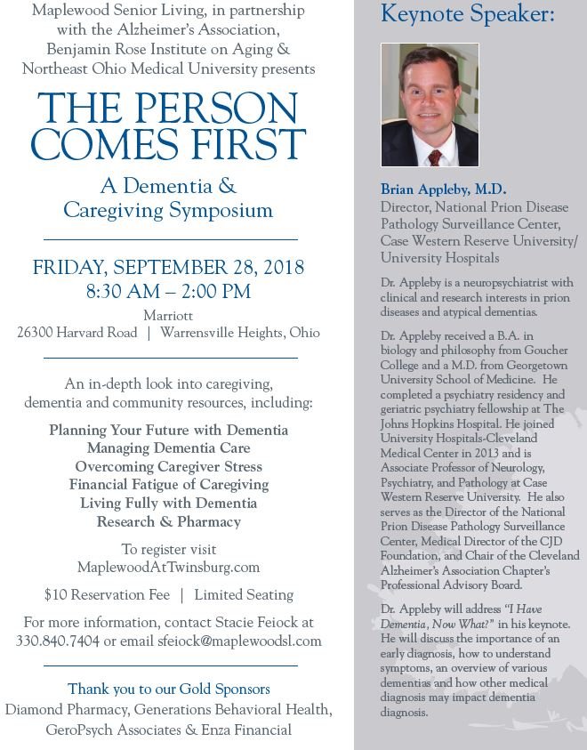 Photo of The Person Comes First - A Dementia & Caregiving Symposium